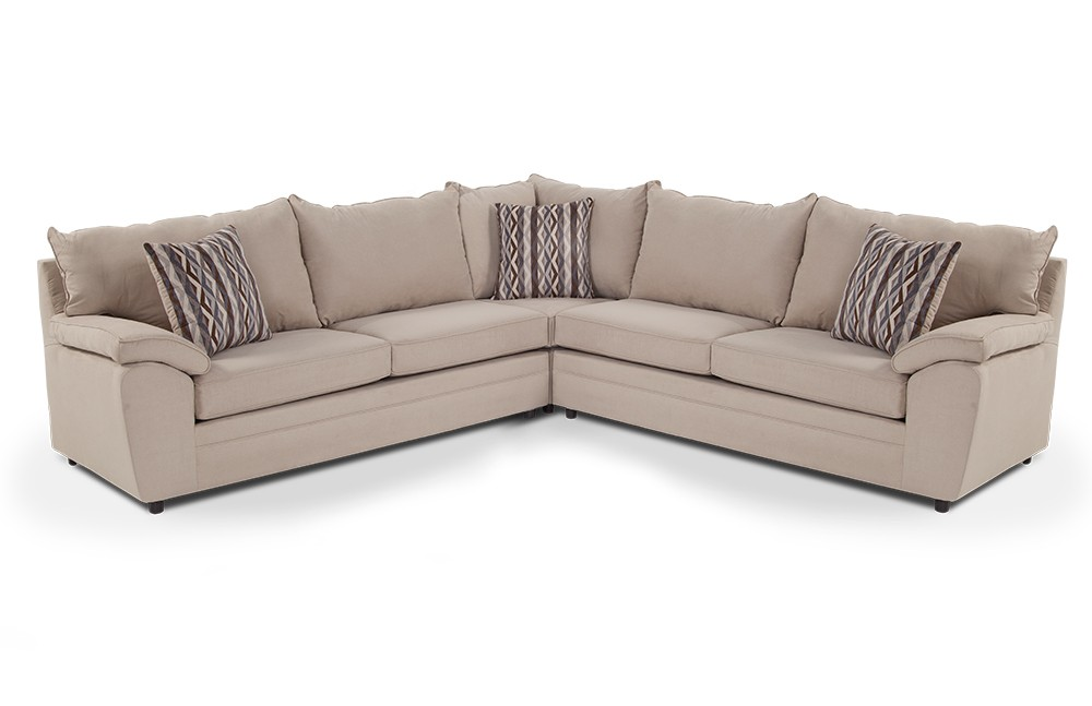Unique Three Piece Sectional Couch Saturn 3 Piece Sectional Bobs Discount Furniture