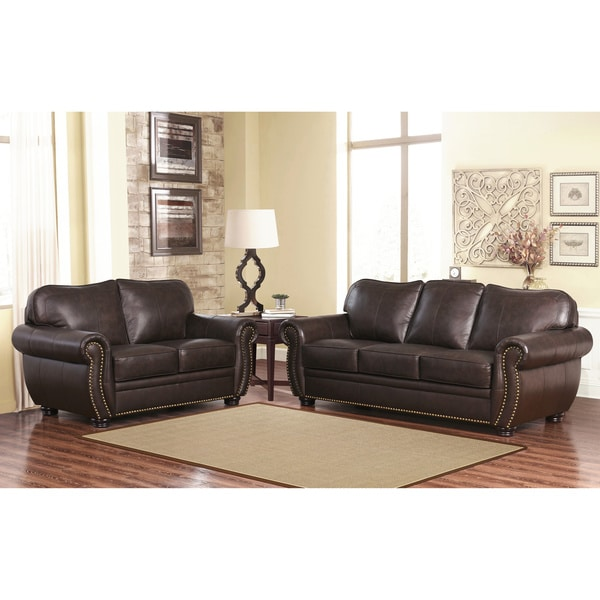 Unique Top Grain Leather Sofa Abson Richfield Premium Top Grain Leather Sofa And Loveseat