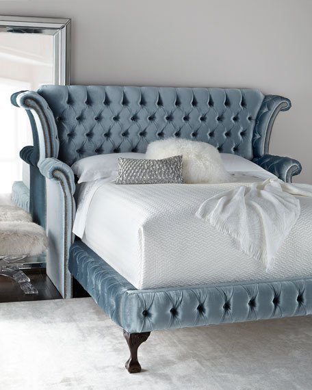Unique Tufted Cal King Bed Frame Haute House Carter Teal Tufted California King Bed