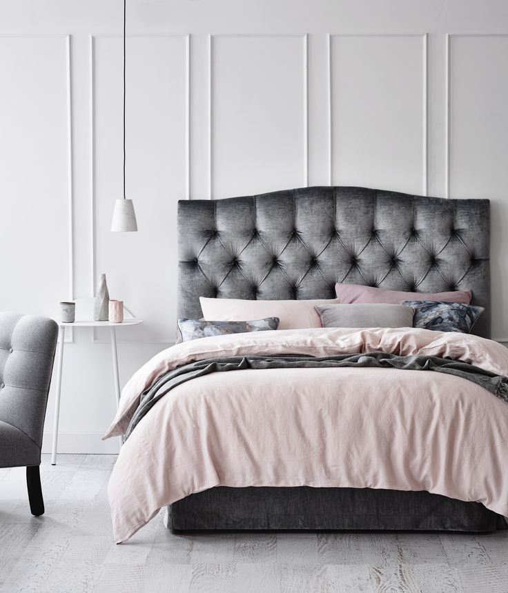 Unique Tufted Headboard Bed Frame Best 25 Grey Tufted Headboard Ideas On Pinterest Grey Bedroom