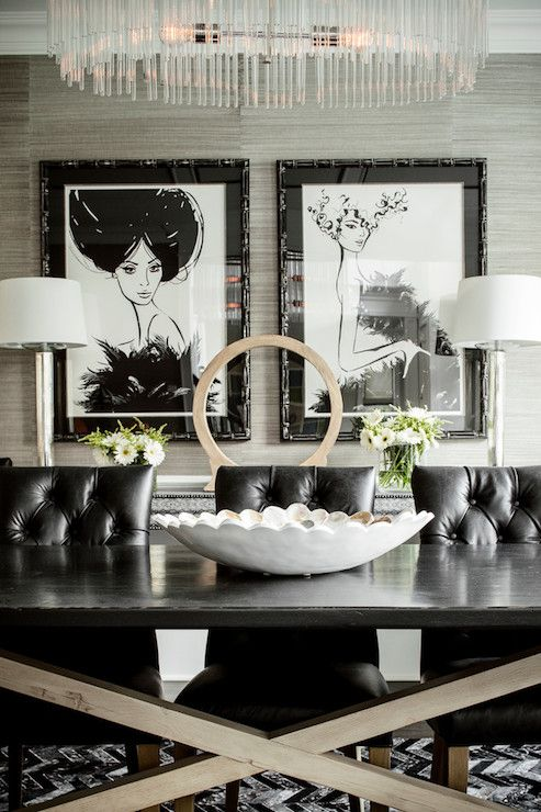 Unique Tufted Leather Dining Room Chairs Best 25 Black Leather Dining Chairs Ideas On Pinterest Black