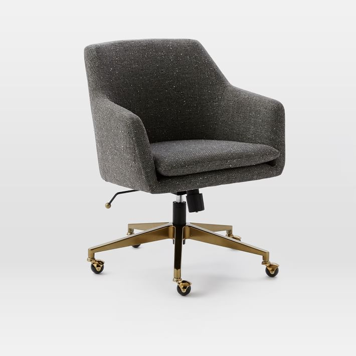 Unique Upholstered Office Chair Helvetica Upholstered Office Chair West Elm