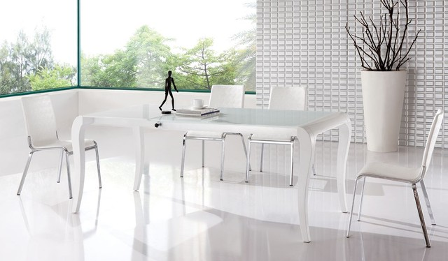 Unique White Dining Table Modern Download White Contemporary Dining Room Sets Gen4congress