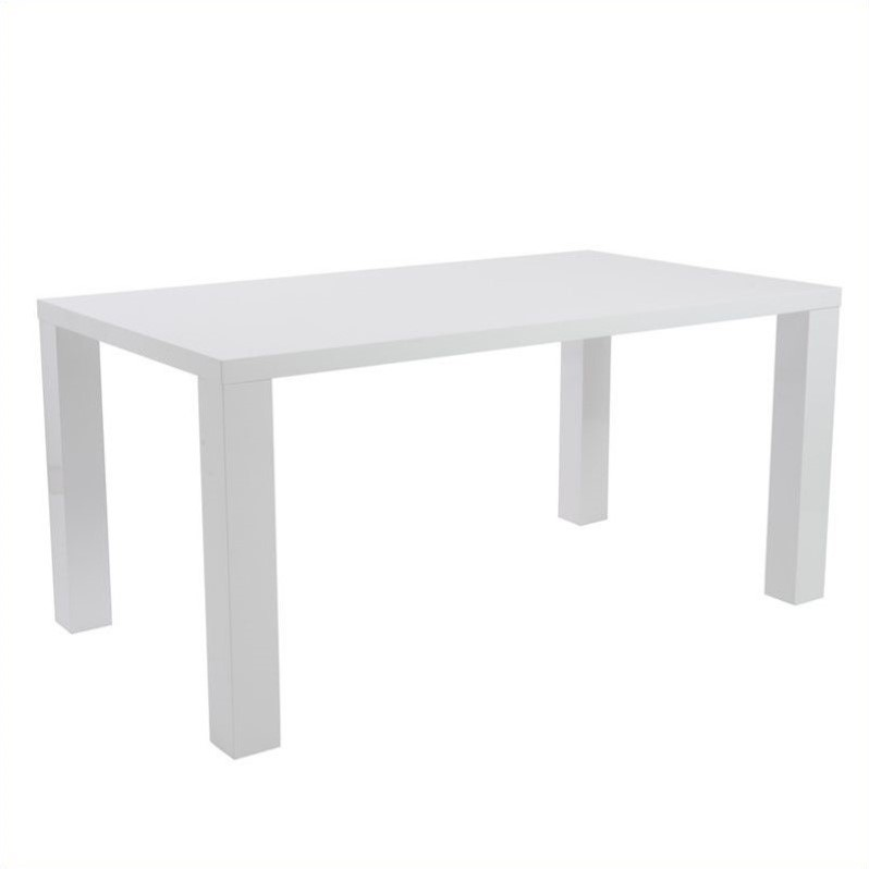 Unique White Lacquer Dining Table Modern Eurostyle Ab 63 Rectangular Dining Table In White Lacquer