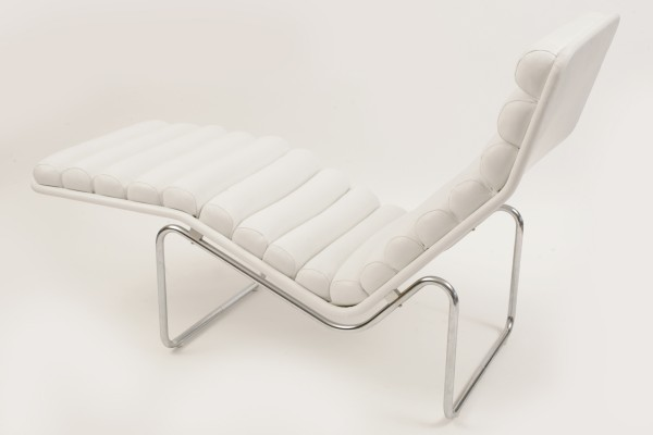 Unique White Leather Chaise Lounge Rolled Leather Chrome Chaise Lounge Red Modern Furniture