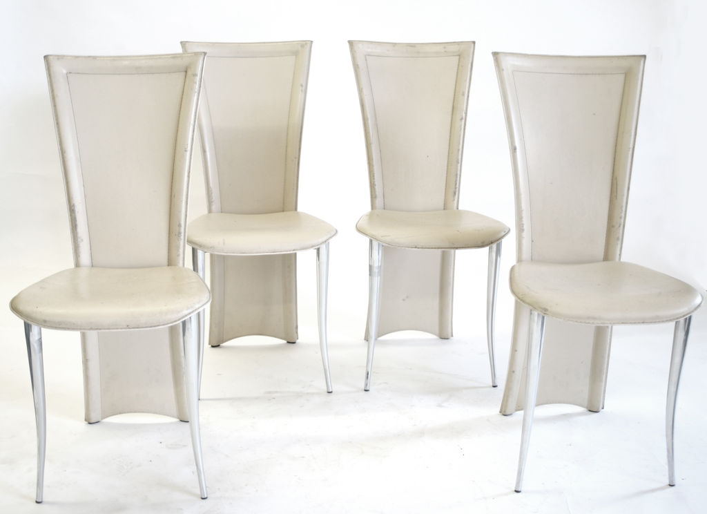 Unique White Leather High Back Dining Chairs Dining Room Adorable White High Back Dining Chairs With Floral