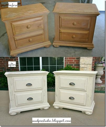 Unique White Nightstand With Wood Top Best 25 Refinished Nightstand Ideas On Pinterest Refurbished