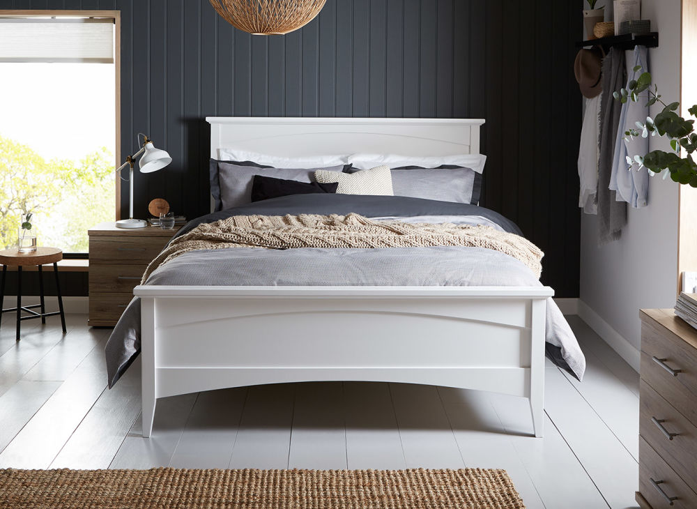Unique White Wooden Bed Frame Miller White Wooden Bed Frame Dreams
