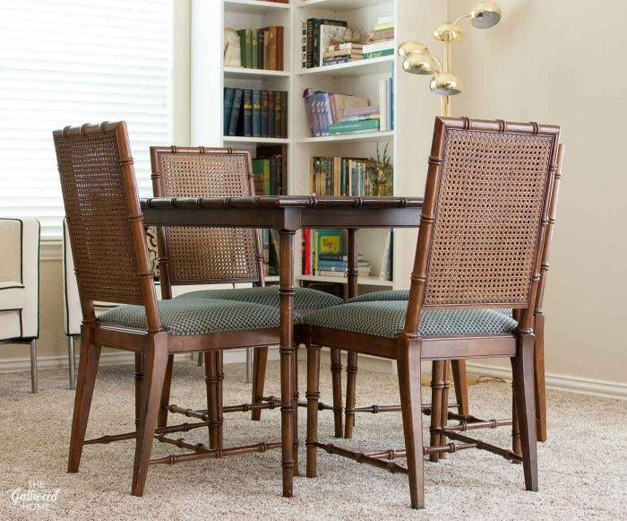 Unique Wood Dining Chairs With Leather Seats How To Fix A Sagging Dining Chair Seat The Gathered Home