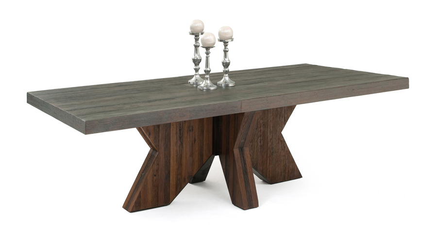 Unique Wood Modern Dining Table Reclaimed Wood Table Modern Design Sustainable Environment