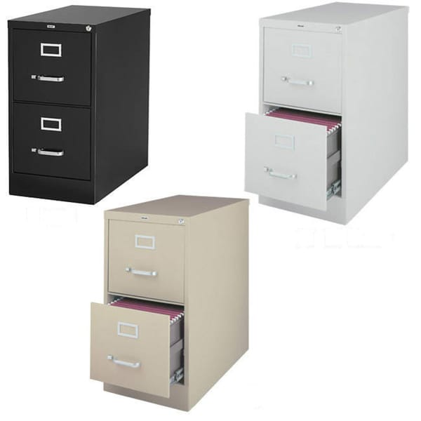 Wonderful 1 Drawer File Cabinet Hirsh 25 Inch Deep 2 Drawer Letter Size Commercial Vertical File