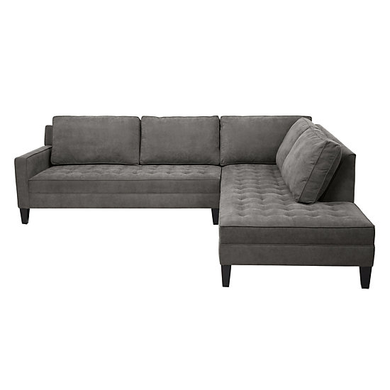Wonderful 2 Piece Sectional Couch 2 Piece Sectional Sofa Vapor Collection Z Gallerie