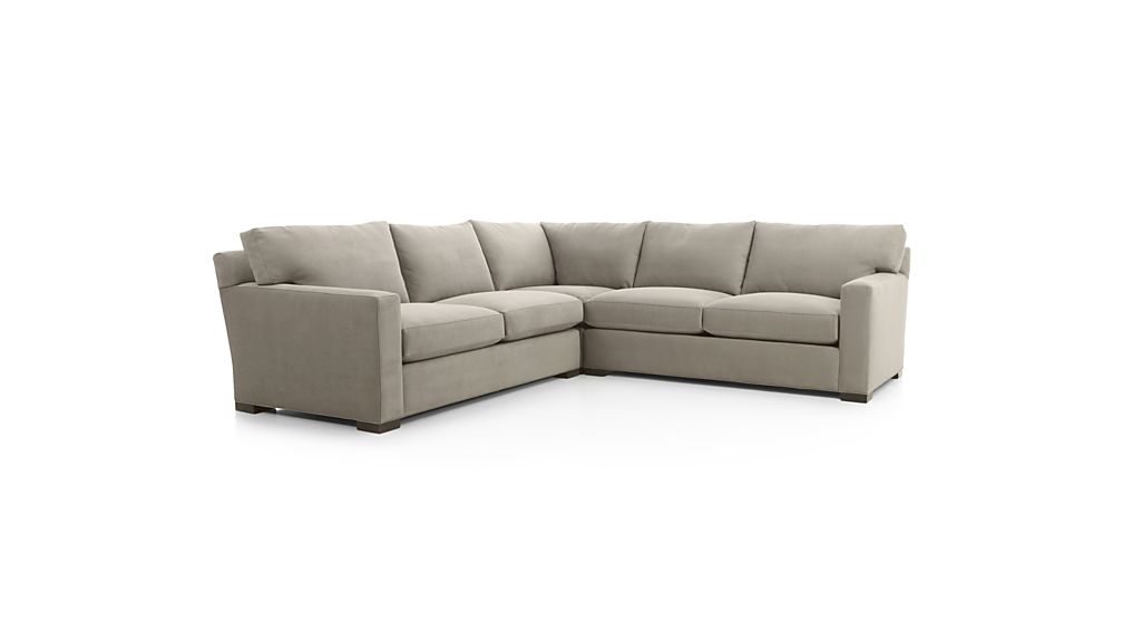 Wonderful 3 Piece Sectional Couch Axis Ii 3 Piece Sectional Sofa Crate And Barrel