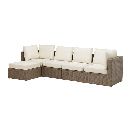 Wonderful 4 Seater Sofa Ikea Arholma 4 Seat Sofa With Footstool Outdoor Ikea
