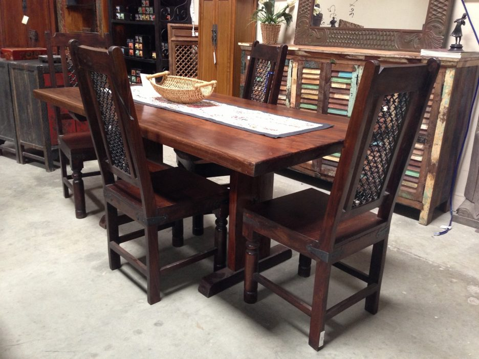 Wonderful 4 Wooden Dining Chairs Affordable Solid Wood Dining Table With 4 Solid Wood Dining Chairs