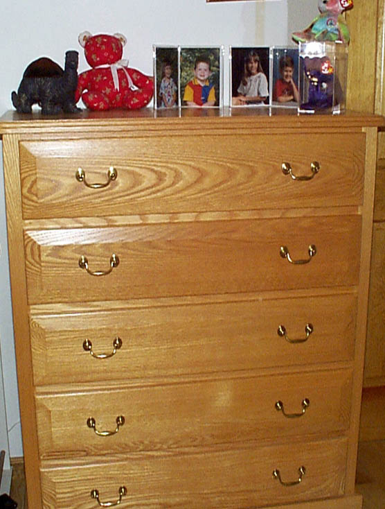 Wonderful 5 Drawer Oak Dresser Bedroom And Bathroom Cabinetry