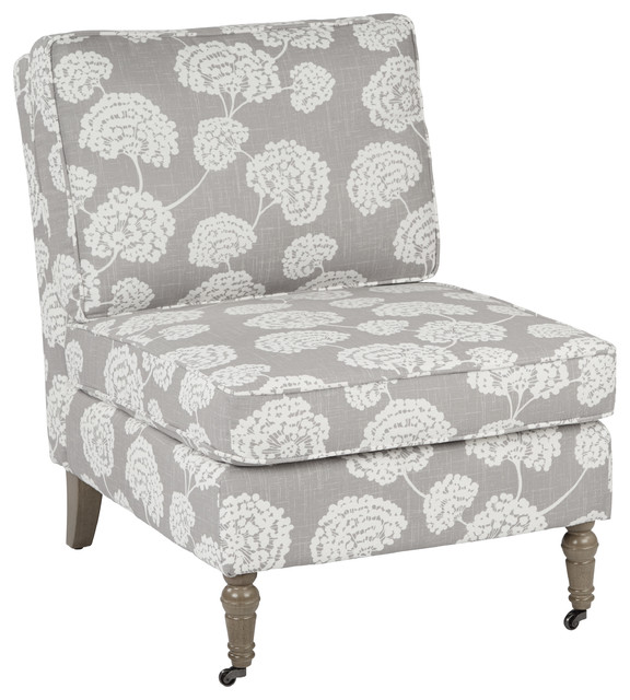Wonderful Accent Chair With Wheels Madrid Accent Chair With Toile Stems Light Gray And Medium Gray