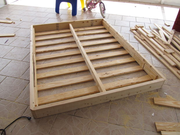 Wonderful Add Slats To Bed Frame Rebuilding A Bed Foundation 12 Steps With Pictures