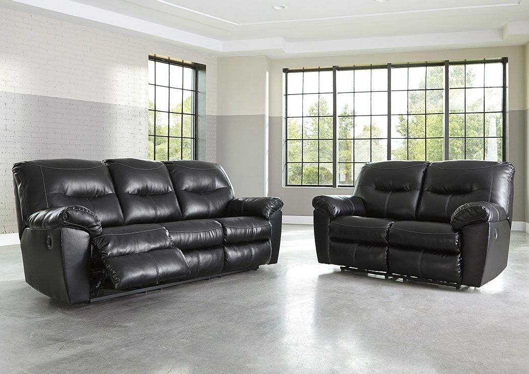 Wonderful Ashley Black Leather Reclining Sofa Harlem Furniture Kilzer Durablend Black Reclining Sofa And Loveseat