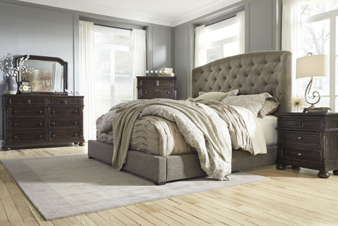 Wonderful Ashley Furniture Fabric Headboard Bedrooms And Bedding Accessories