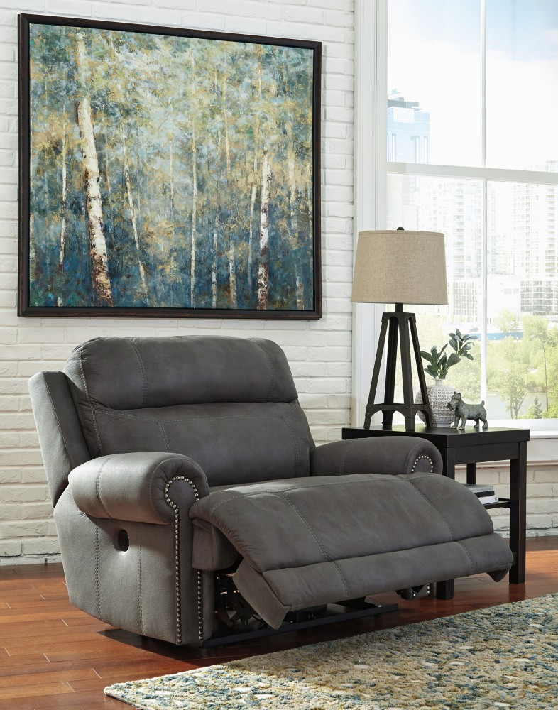 Wonderful Ashley Furniture Grey Recliner Gray Zero Wall Power Wide Recliner