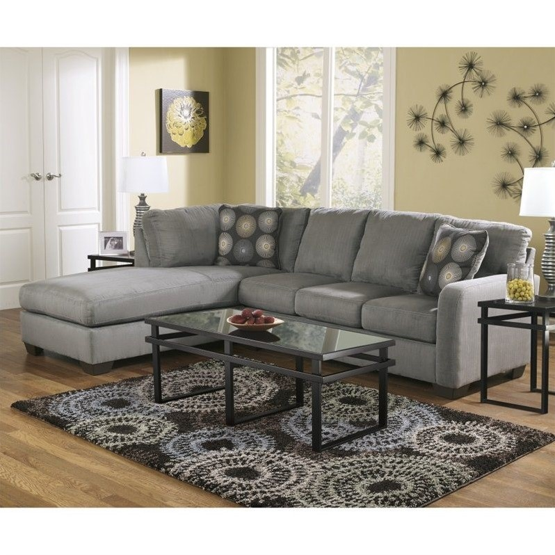 Wonderful Ashley Furniture Microfiber Sectional Ashley Furniture Zella Microfiber Sofa Sectional In Charcoal