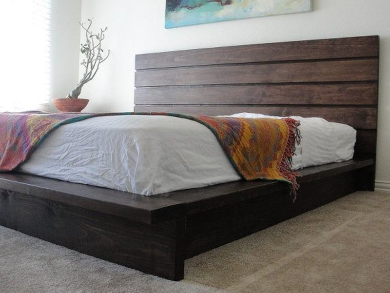 Wonderful Bed With Solid Base No Slats King Rustic Platform Bed Build A Rustic Platform Bed Bedroom Ideas