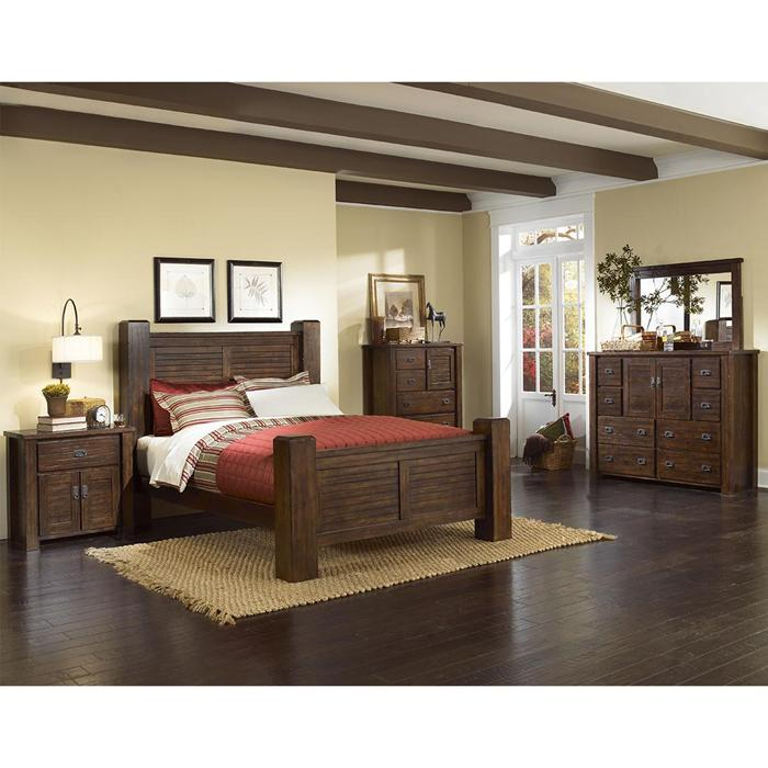 Wonderful Bedroom Set With Desk Queen Bedroom 2017 Hickory Point Trestlewood 4 Piece Queen Bedroom Set