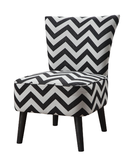 Wonderful Black And White Accent Chair Black Chevron Print Accent Chair Furniture And Interior Design