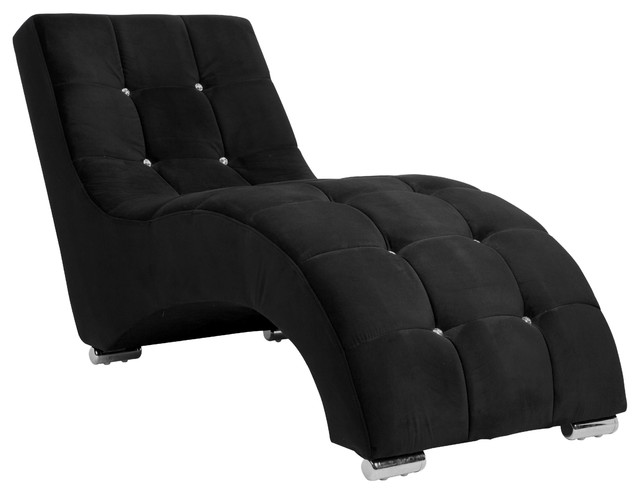 Wonderful Black And White Chaise Aria Classic Tufted Lounge Chaise Contemporary Indoor Chaise