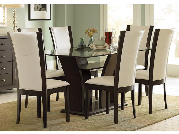 Wonderful Black Leather And Wood Dining Chairs Best 25 Glass Top Dining Table Ideas On Pinterest Glass Dinning