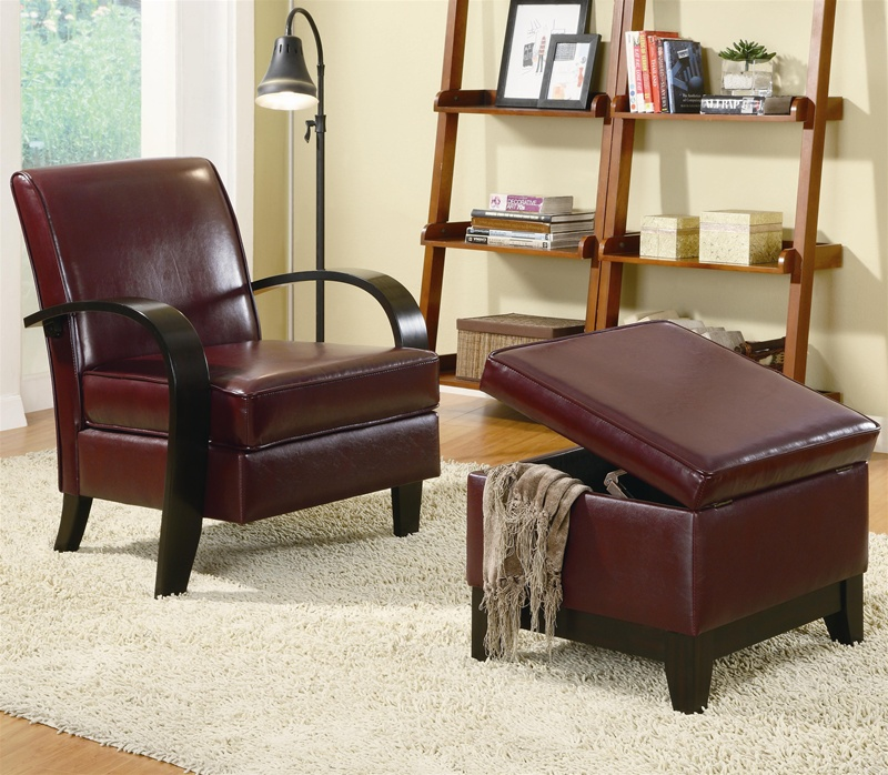 Wonderful Brown Accent Chair With Ottoman Bentwood Dark Brown Leather Accent Chair With Storage Ottoman