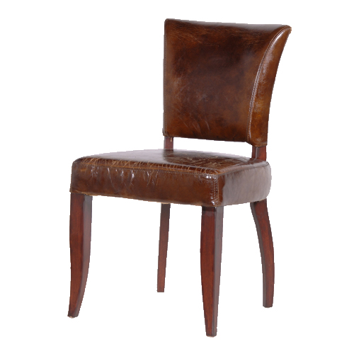 Wonderful Brown Leather Dining Chairs Gats Brown Leather Dining Chair With Linen Back