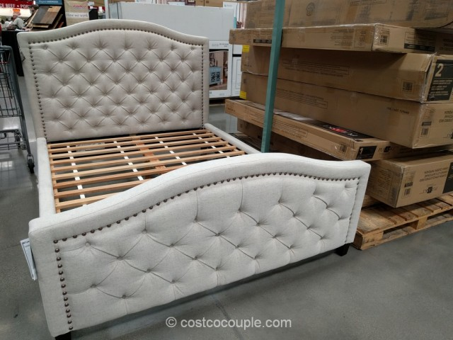 Wonderful Costco Queen Bed Frame Pulaski Upholstered Queen Bed