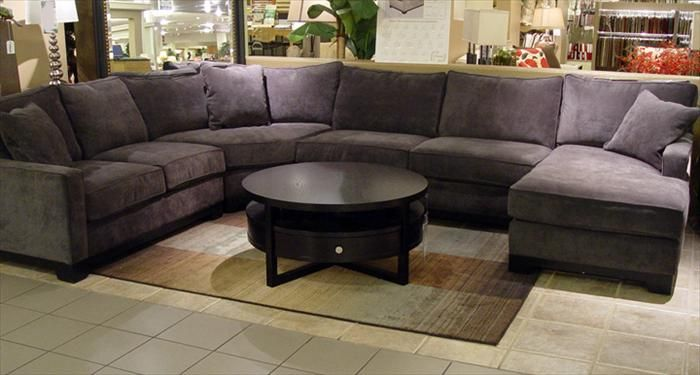 Wonderful Dark Gray Sectional Sofa Im Loving This Big Grey Sectional With Dark Wood Plum And