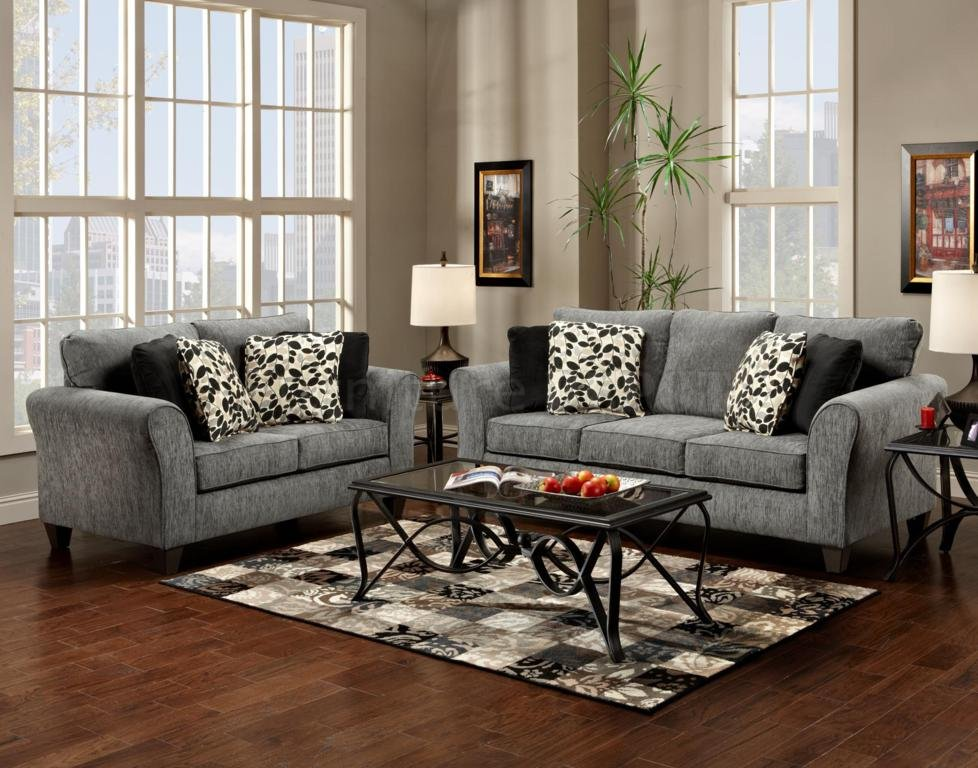 Wonderful Dark Grey Sofa Set Wonderful Gray Sofa Set With Sculpture Of Color Your Living Room