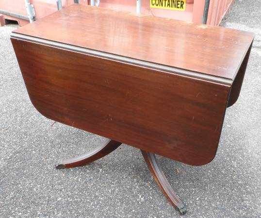 Wonderful Dining Room Tables With Leaves Brandt Duncan Phyfe Style Mahogany Drop Leaf Dining Room Table