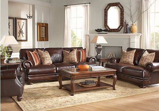 Wonderful Entire Living Room Sets Lr Rm Kentfield2 Kentfield Brown 2 Pc Leather Living Room Entire