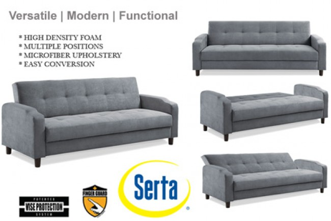 Wonderful Futons And Convertible Sofas Grey Convertible Futon Sofa Bed Sleeper Reno Modern Futon Couch