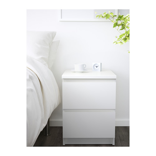 Wonderful Glass Bedside Table Ikea Malm Chest Of 2 Drawers White 40x55 Cm Ikea