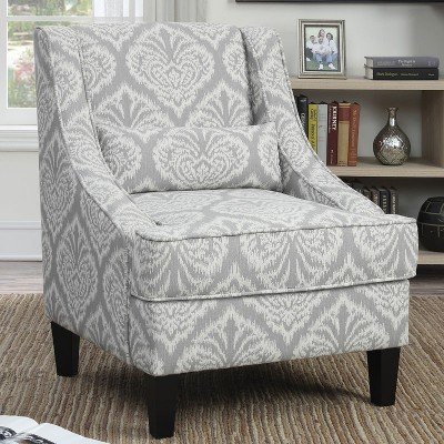 Wonderful Grey And White Accent Chair Grey And White Pattern Accent Chair Coaster Furniture Furniture Cart