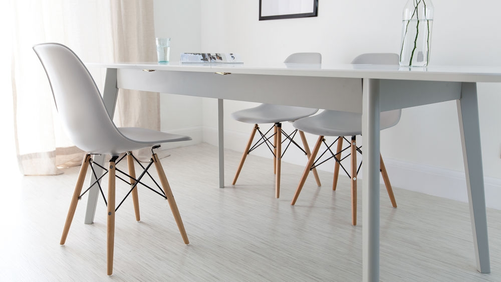 Wonderful Grey And White Dining Chairs Dining Room Eames Chair High Quality Uk Fast Delivery Grey And