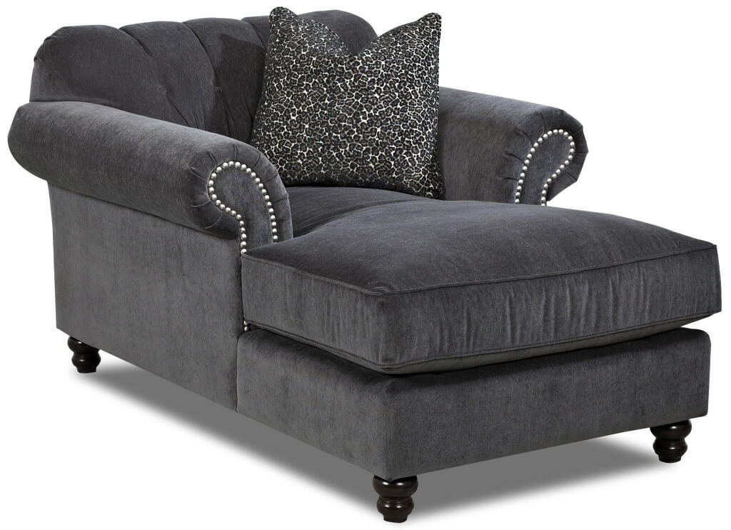 Wonderful Grey Chaise Lounge Chair Bedroom Wicker Chairs Gray Indoor