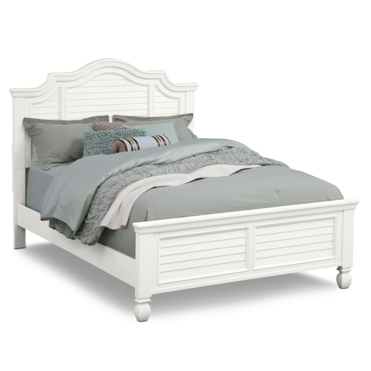 Wonderful Grey Full Size Bed Bedroom White Wooden Bed With Headboard And Grey Bedding With
