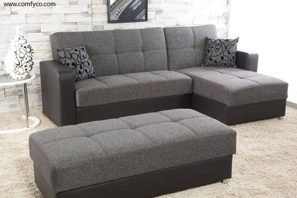 Wonderful Grey Sectional Sofa Bed Sofa Sectional With Chaise Grey Microfiber Sectional Grey