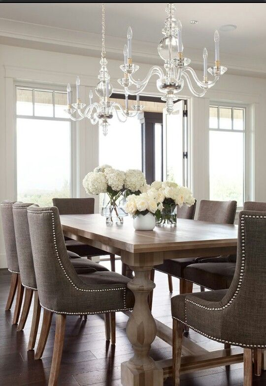 Wonderful Grey Studded Dining Room Chairs Revamp Your Dining Room Drummond House Plans Ceiling Art