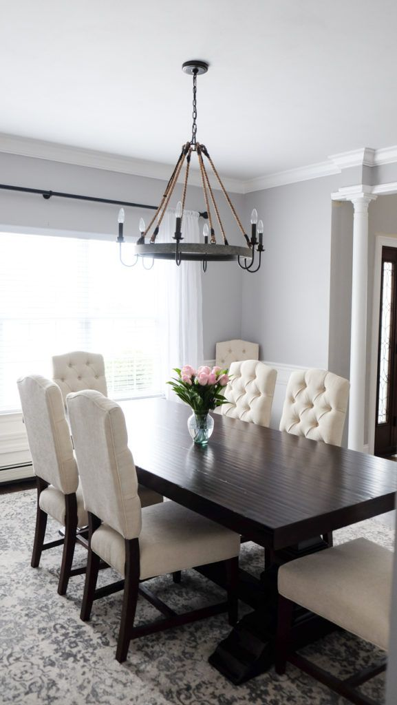 Wonderful Grey Tufted Dining Room Chairs Best 25 White Dining Rooms Ideas On Pinterest White Dining Room