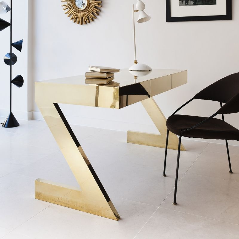 Wonderful Home Office Table And Chair Black And Gold Luxury Modern Office Find More Luxury Unique Desks