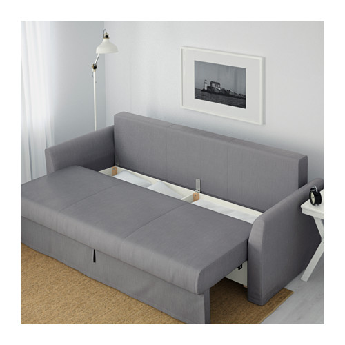 Wonderful Ikea 3 Seater Sofa Bed Holmsund Three Seat Sofa Bed Nordvalla Medium Grey Ikea