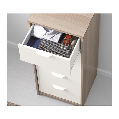 Wonderful Ikea 5 Drawer Chest Of Drawers Askvoll Chest Of 5 Drawers White Stained Oak Effectwhite 45x109